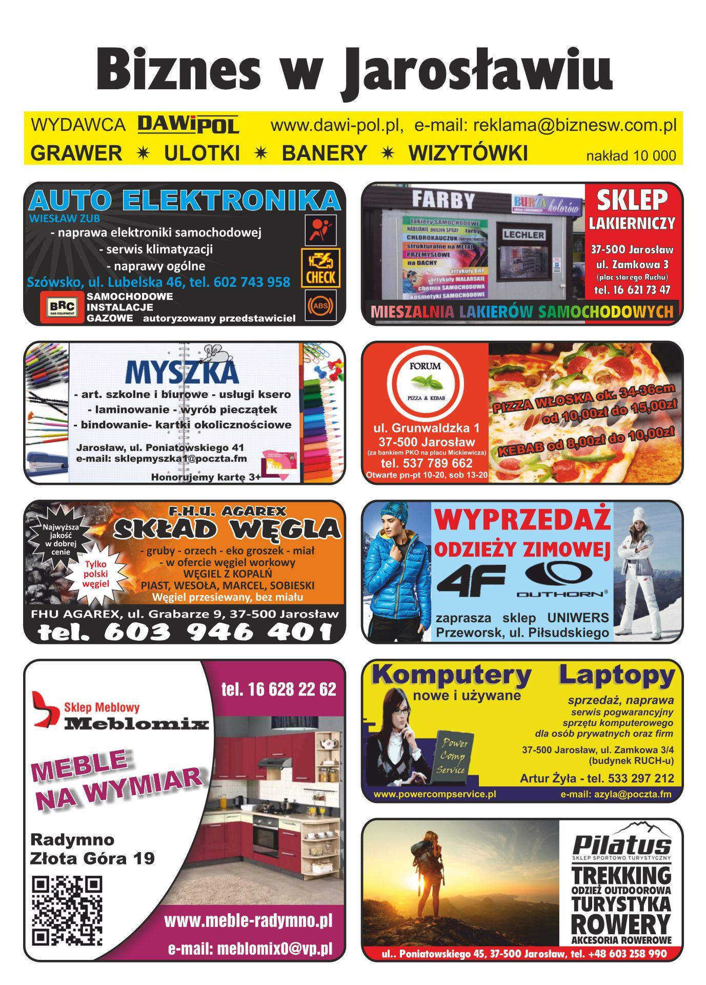 ulotki: biznes w jarosławiu